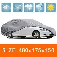 1 * silber Wasserdichte Staubdicht Regendicht Sonnencreme UV Beständig Vlies Abdeckung-in Car-Cover aus Kraftfahrzeuge und Motorräder bei