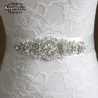 Kyunovia 12Color Crystal and Pearl Wedding Belt Wedding Sash Bridal Belt Bridal Sash Dress Belt Bridesmaid Belt Custom Sash FB24