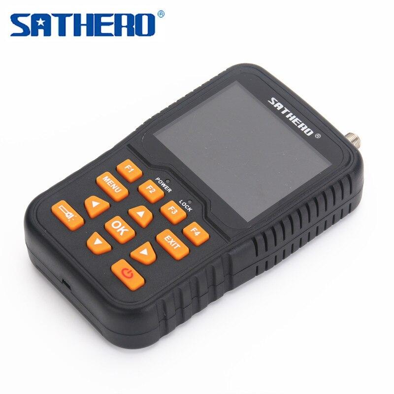Digital Satellite Finder SATHERO SH 400HD Signal Meter Finder DVB S S2 HDMI H 264 1080P