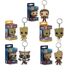 FUNKO POP Marvel Avengers: Endgame Thor Loki Thanos Venom Deadpool Justice League Pocket Keychain Action Figure Toys For Boys