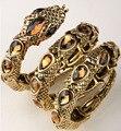 Cobra trecho pulseira bracelete do braço superior do manguito para as mulheres punk rock cristal bangle jóias antique gold & silver dropshipping A32