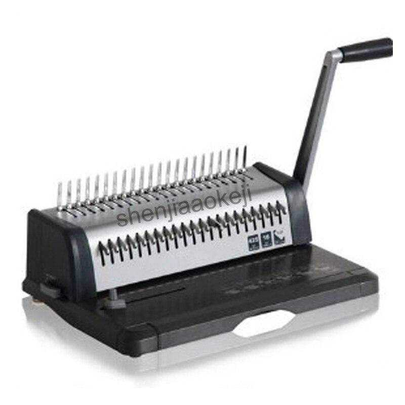 binding machine heavy duty comb style binding machine 21 hole punch machine document tenders bookbinding machine