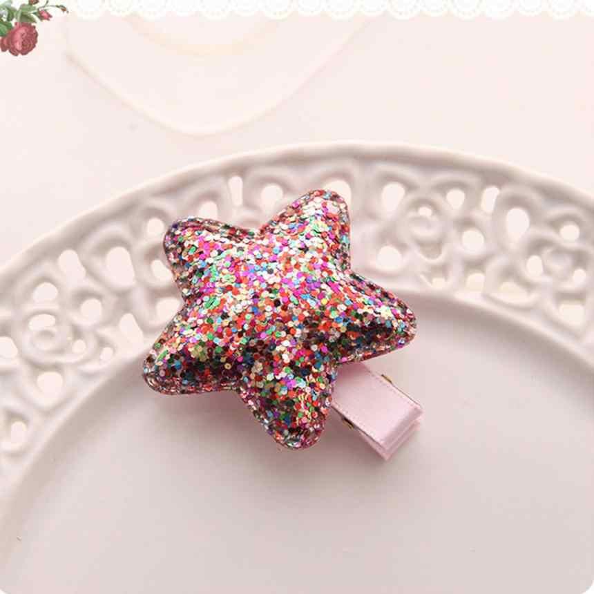 Hermoso bebé niñas niños brillante tocado princesa lentejuelas estrella corazón mariposa pelo Clip tocado diadema abrazaderas