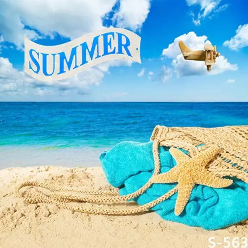 5X7FT Summer Vacation On Beach Photography Background For Kids