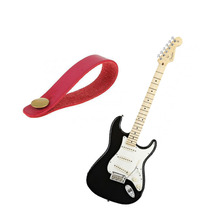 New 1Pc Faux Leather Strap Hook Button For Acoustic / Folk / Classic Guitar Durable