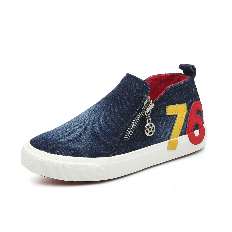 New Spring/Autumn Casual Children Shoes Digital Pattern Kids Canvas Shoes Jean Colors Boots Zipper Side Boys Girls Sneakers New Spring/Autumn Casual Children Shoes Digital Pattern Kids Canvas Shoes Jean Colors Boots Zipper Side Boys Girls Sneakers