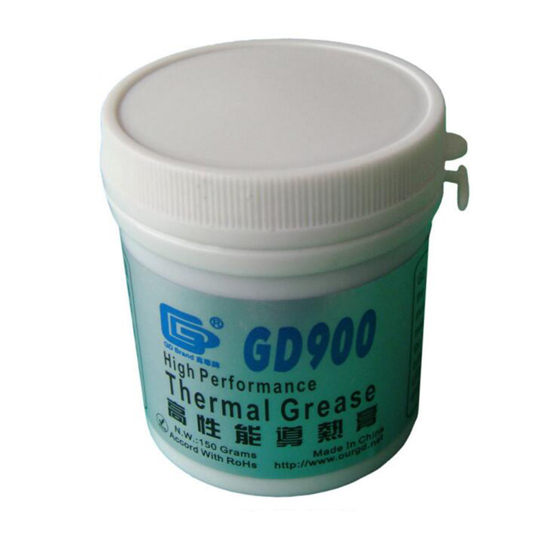 150 Grams GD900 Thermal Conductive Grease, Gray Paste Silicone Plaster Heatsink Compound, Used For CPU LED CN150 gd brand heat sink compound gd900 thermal conductive grease paste silicone plaster net weight 150 grams high performance br150