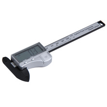 Best price Digital Caliper 100mm Silver Accurate Vernier Caliper Micrometer Measurement Carbon Fiber Composite Precise Mesure