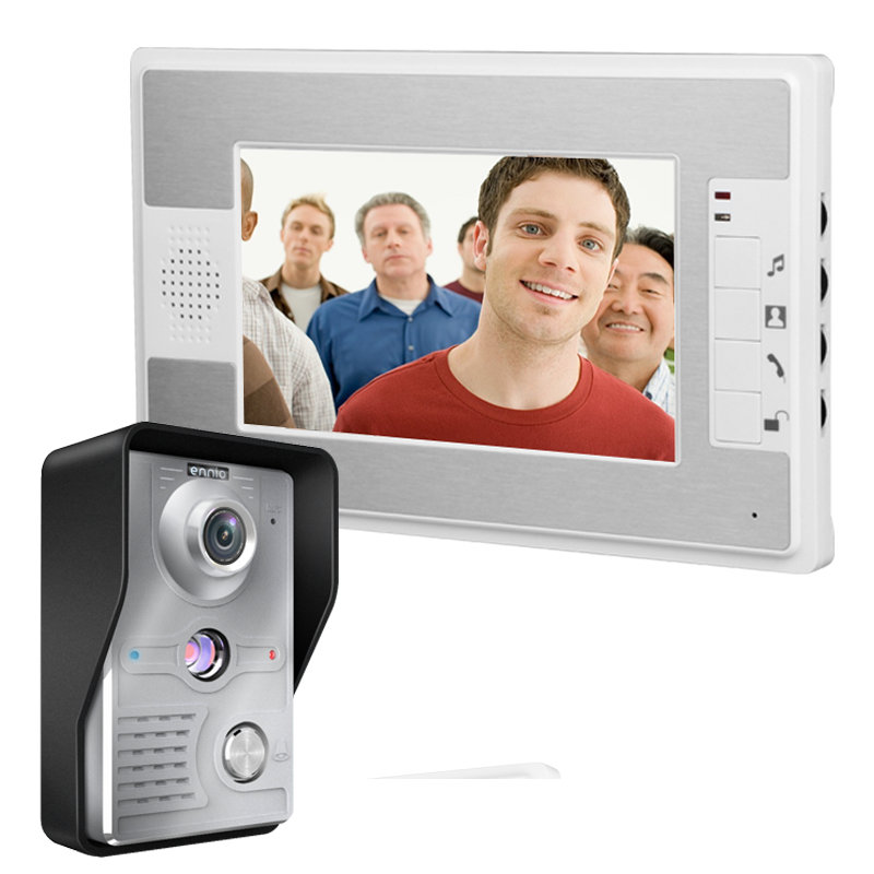 New Arrivals!!! Household 7 Inch TFT LCD Screen Display Wired Doorbell Aluminum Alloy Waterproof Night Vision Infrared Doorbell 7 inch video doorbell tft lcd hd screen wired video doorphone for villa one monitor with one metal outdoor unit night vision