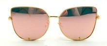 De gran tamaño Del Ojo de Gato Mujeres gafas de Sol de Calidad Superior de la Marca de Diseño de Metal Gafas de Sol UV400 Shades gafas de sol Gafas Lunettes 17WM025