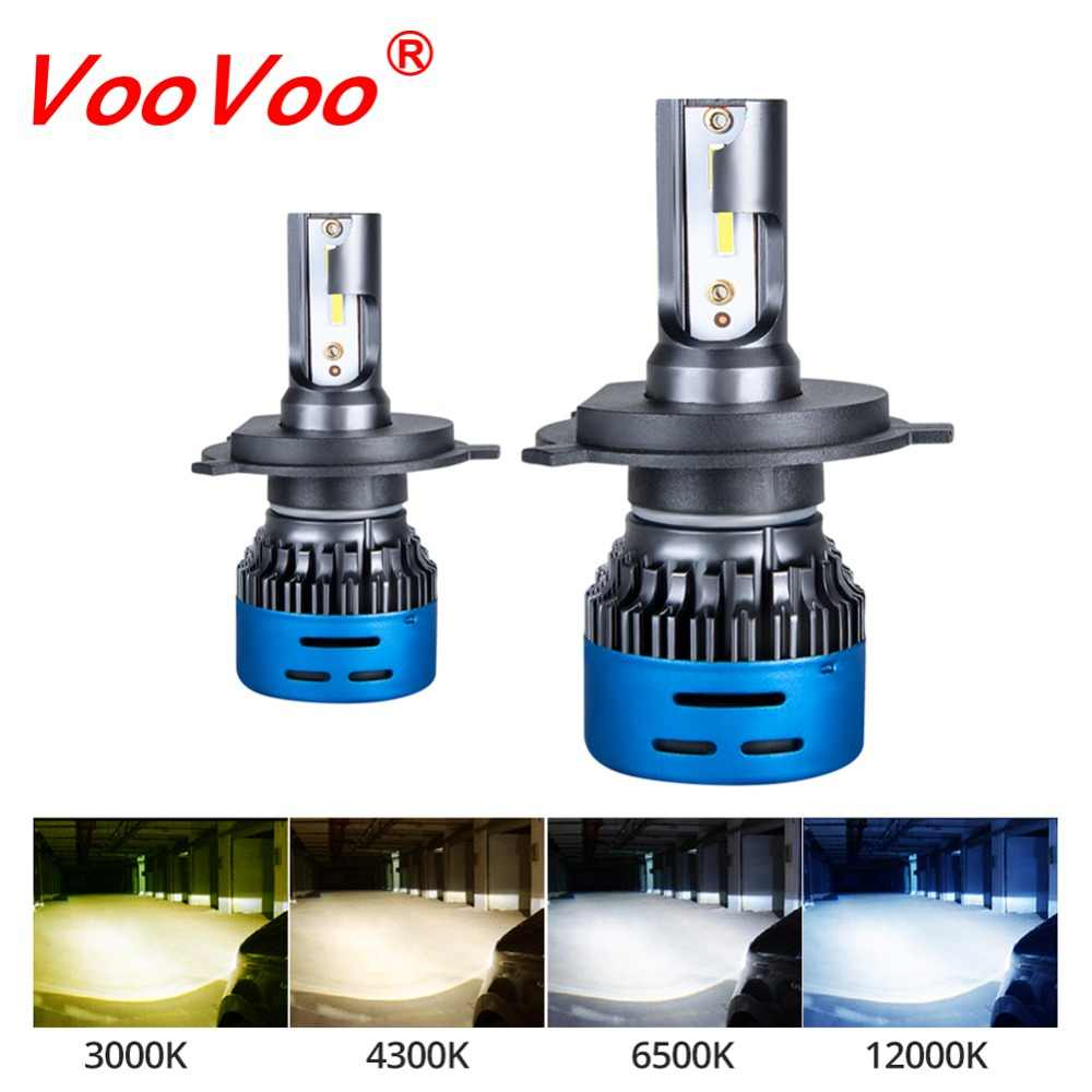 VooVoo LED Car Headlight H7 H4 LED H1 H8 H11 9005 9006 HB3 HB4 9600LM 12V Auto Headlamp Fog Light 3000K 4300K 6500K 12000K Bulbs