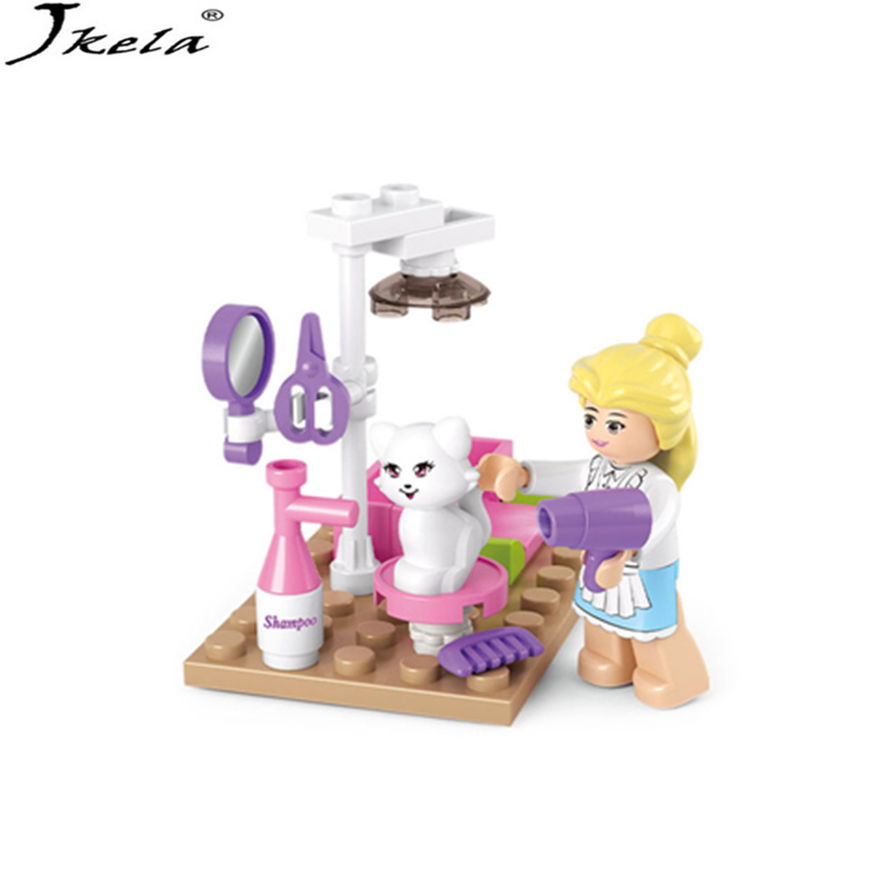 [Jkela] New Pet Grooming Store Princess Girl Friends Toy Building Blocks set Kids Bricks Gift Compatible with Legoingly Friends 10494 city supermarket building bricks blocks set girl toy compatible lepine friends 41118