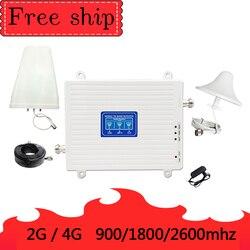 900/1800/2600 МГц GSM 2G GSM WCDMA 3g LTE 4G, мобильный телефон с функцией Wi Fi ретранслятор Сотовая связь усилитель сигнала 70db усиления