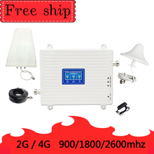 900/1800/2600 Mhz GSM 2G WCDMA 3G LTE 4G Handy Repeater Cellular Signal booster Verstärker 70db Gain