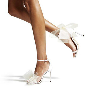 Image 2 - Women High Heels 2019 Summer Sexy Club Bow Fashion Sandals Wedding Party Korean Style Womens Shoes