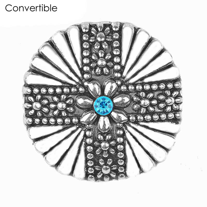 Hot Sale Rivca Magnetic Flower Brooch For Women Pin Crystal Safety Custome Cloth Muslim Jewelry Accessories Rhinestone Brooches