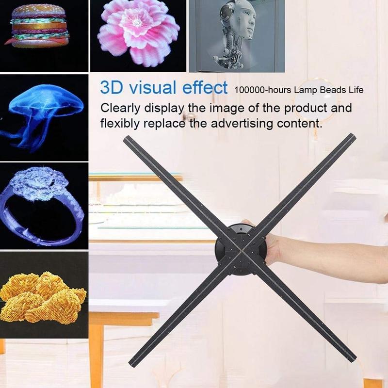 HR-AD04 70cm 3d hologramme ventilateur holographique affichage publicitaire