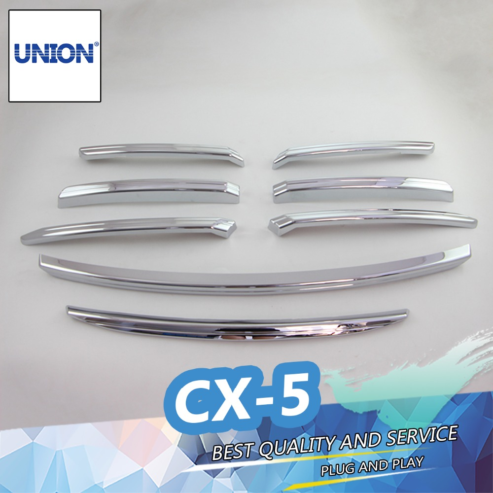 FIT FOR 2015 2016 MAZDA CX-5 CX5 CHROME FRONT MESH GRILLE GRILL BUMPER COVER TRIM INSERT BONNET GARNISH MOLDING GUARD PROTECTOR high quality abs chrome door side line garnish guard body molding cover case for 2012 2016 mazda cx 5 cx5 protector trim