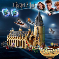 983pcs Compatible Legoingly 75954 Harri Potter series Hogwarts Great Hall Building Blocks Brick Educational Toys 11007