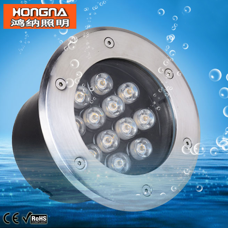 Free Shipping AC85-265V High Power 12W LED Underground Lights LED Buried Lamp Waterproof 2 Years Warranty