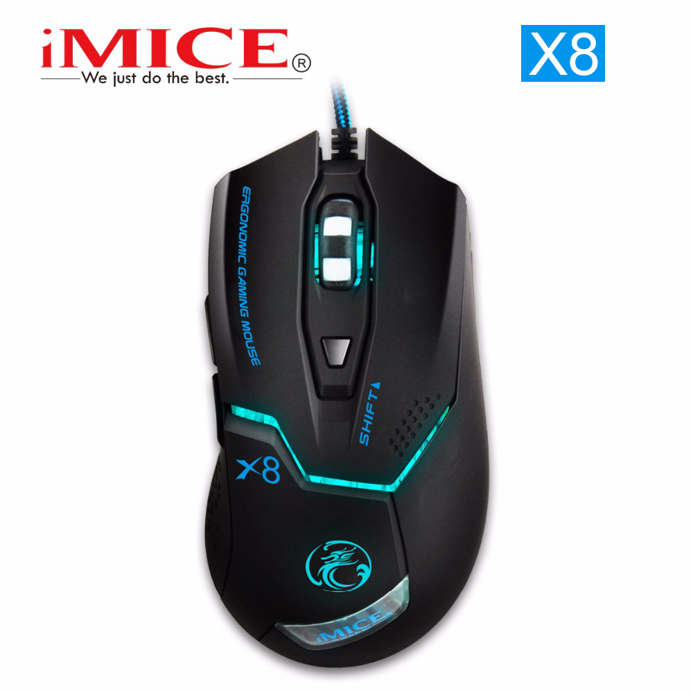 [Original] imice x8 ratones 7 botones profesional gaming mouse óptico led usb co