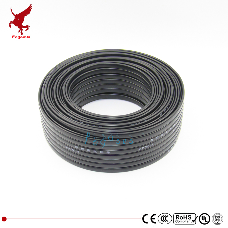 50m 200-240V Flame retardant type heating cable W=8mm Self regulat temperature Water pipe protection Roof deicing Heating cable