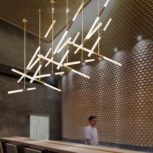 Image 2 - Modern LED Chandelier lighting Nordic Iron and Glass Hanging lights For living room bedroom Restaurant Gold/Black Pendant lamp