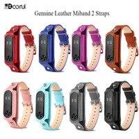 BOORUI-Correa de cuero genuino para pulsera inteligente xiaomi mi band 2, accesorios de colores para pulsera inteligente mi band 2