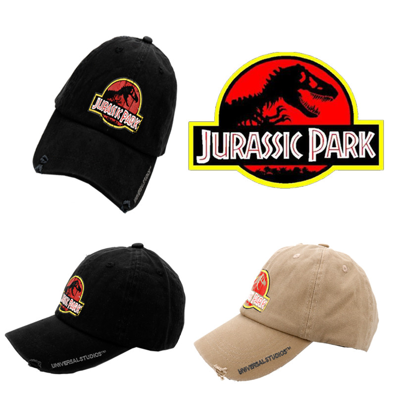 Printing Jurassic Park Black Baseball Cap Dad Casquette Snapback Hats Fashion Sport Hat Men Washed Cotton Caps gorras