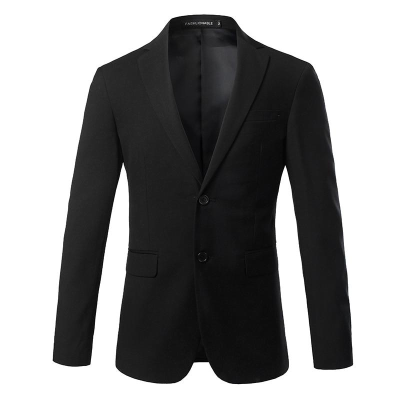 Formel hommes costume veste asie taille S-4XL affaires de mariage hommes Blazer manteaux automne couleur Pure hommes costumes