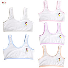 KLV Teenager Baby Girls Lovely Cartoon Print Underwear Training Bra Unpadded Vest(China)