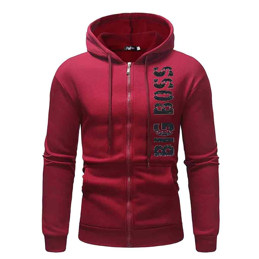 Herrlich Chamsgend Männer Mode Brief Drucken Lange Hülse Hoodie Pullover Lose Beiläufige Zipper Sweatshirt Ausbildung Sport Jacke Plus Größe Hemden