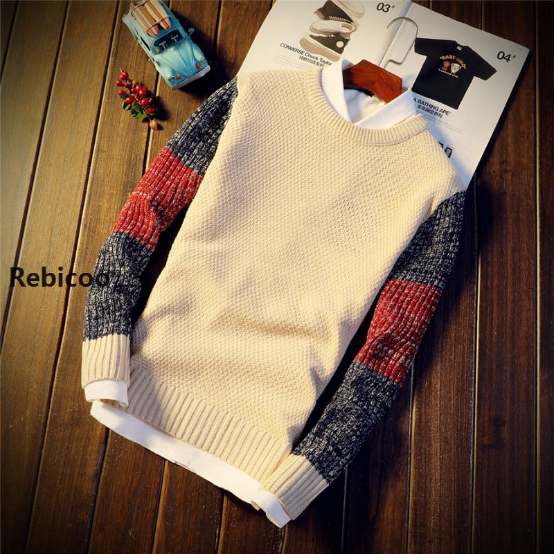 Autumn Winter Sweater Men 39 s Round Neck Solid Color Turtleneck Sweater Men 39 s Youth Trend New Slim Long Sleeve Sweater in Pullovers from Men 39 s Clothing