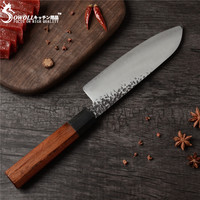 SOWOLL Damascus Chopping Knife VG10 Hand Made Forged Japanese Knife Damascus Blade Kitchen Chef Knive Very Sharp Nakiri Cleaver