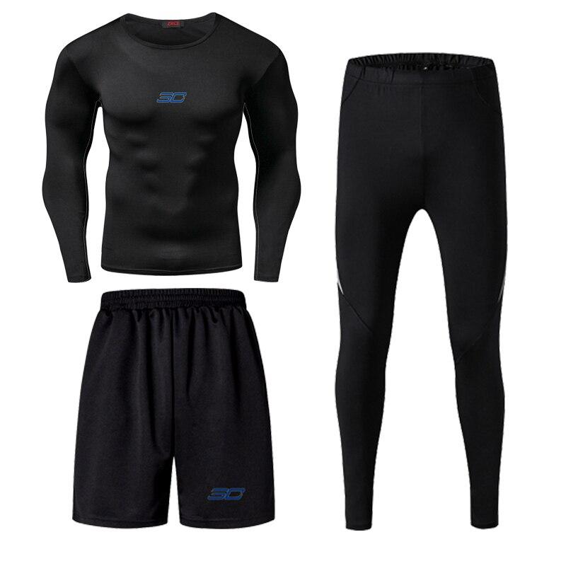 Jordan kobe james masculino aptidão wear collants treino de basquete secagem rápida três correndo roupas ginásio compressão conjuntos - 4