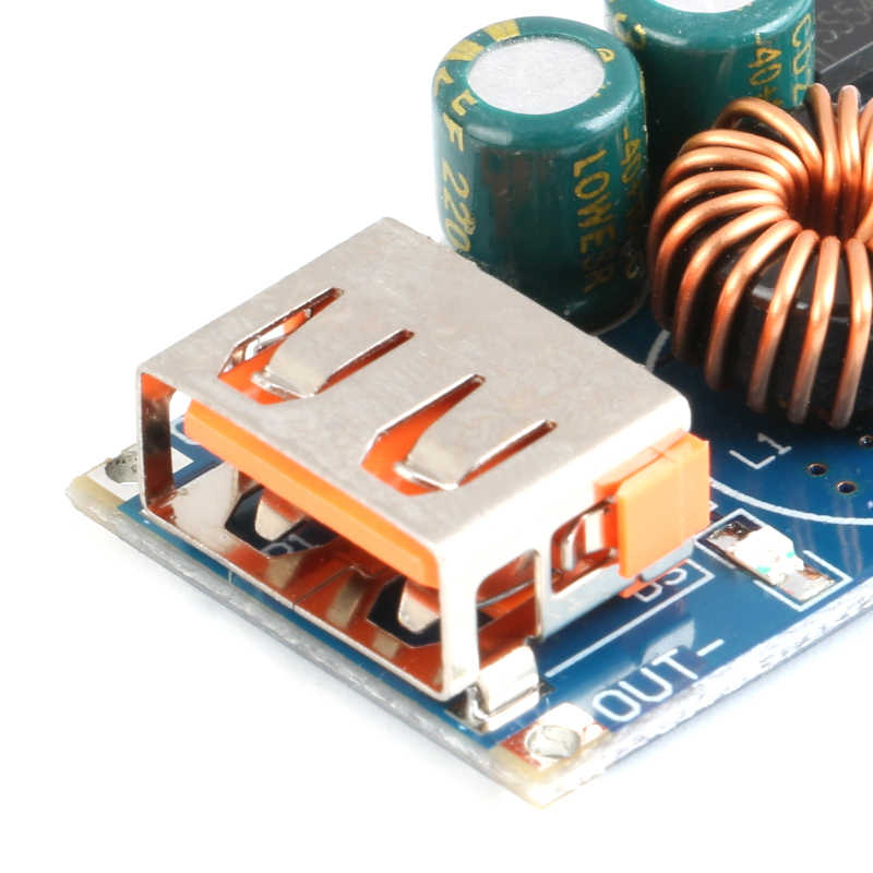 12V24V до 5В USB Поддержка устройство, док-станция Qualcomm QC3.0 максимальная 24W Регулируемый Мощность понижающий преобразователь модуль Input6V-32V QC2.0 AFC BC1.2 sfcp