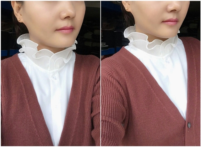 Fold lace high collar shirt fake half-length shirt Lapel Fake False Collar Detachable decoration princess vintage shirt blouse