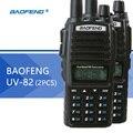 2 ШТ. BaoFeng УФ-82 Рация Dual Band BaoFeng UV82 двухстороннее Радио 128CH Фонарик Двойной Дисплей Dual Watch для Охоты Радио