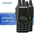 2 pcs baofeng uv82 baofeng uv-82 walkie talkie dual band two-way radio 128ch lanterna dupla afixação dupla relógio para a caça de rádio