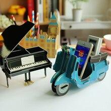 Multifunction DIY Puzzle Pen Holder Desk Set Desktop Decor Ornament Toys Storage Organizer Set Office School Supplies