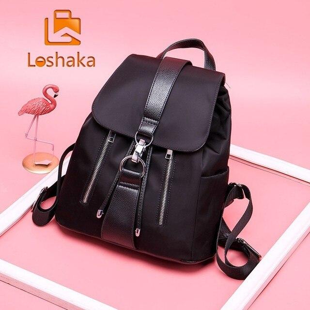 e628a6a1048b US $10.54 40% OFF Loshaka Women Backpack New Best Travel Backpack Student  School Bag Korean Hoop Backpack Female Girl Mochila bagpack laptop bag-in  ...