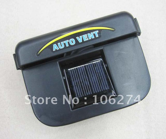 Solar powered ventilation system, auto fan