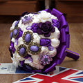 Mini Artificial Silk Rose Flower Beautiful Jewelry Bouquet Luxury Big wedding bouquet bridesmaid Bridal bouquet FW169