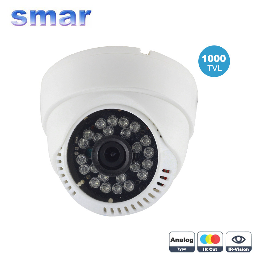 Smar Best Price 24 IR Infrared 1000TVL CMOS Day & Night Security Camera 3.6mm Wide Lens Indoor Camera Free Shipping free shipping best price wide range