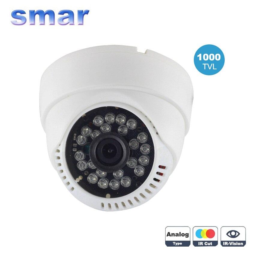 bilder für Smar Besten Preis 24 IR Infrarot 1000TVL CMOS Tag & Nacht Überwachungskamera 3,6mm Weitwinkelobjektiv Indoor Kamera Freies verschiffen