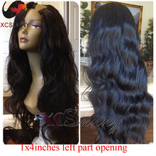 Natural Body Wave 8-26inches Brazilian U Part Wigs Virgin Hair Long Wavy U Part Human Hair Wigs 1×4 Left Part Opening U Part Wig