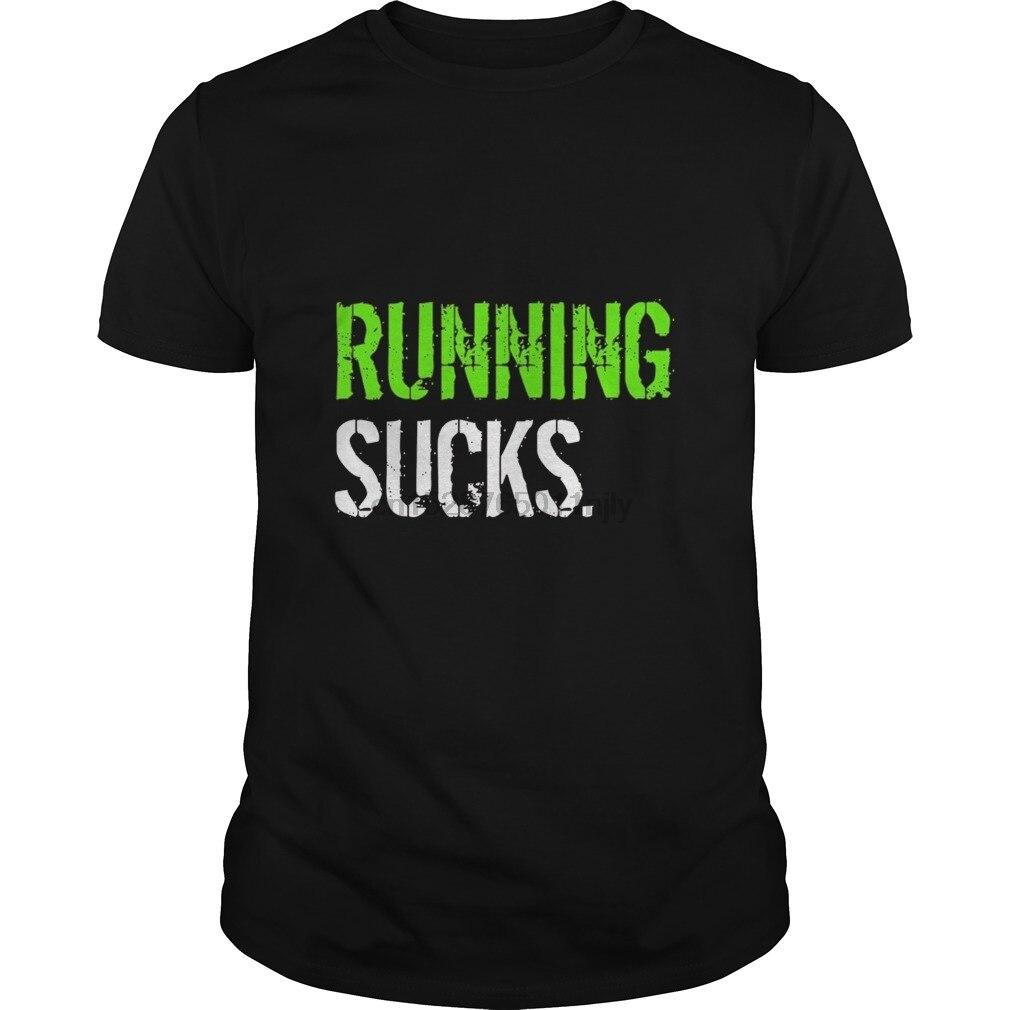 Men Tshirt Short Sleeve Funny Running Shirt - Running Sucks Novelty T-Shirt Cool Tee Tops Women T-shirt