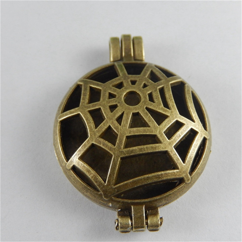 Julie Wang 1pcs/pack Antique Bronze Hollow Spider Necklet Creative Locket Charms Fit Man And Women Pendant Accessory And Others