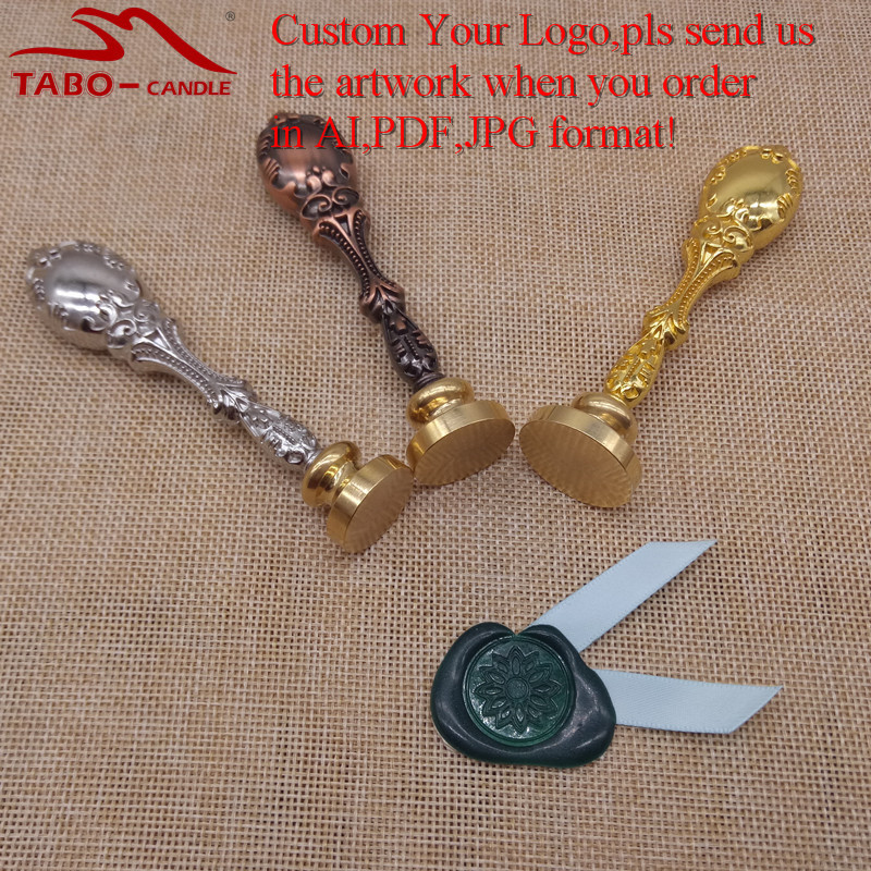 Customize Wax Stamp with Your Logo Personalized Stamp Wax Seal Custom Made Design with Metal Handle By Free Shipping