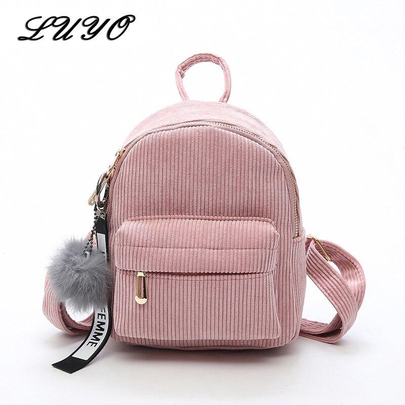 LUYO Women 2018 Cute Backpack bags For Teenagers Children Mini Back Pack Kawaii Girls Kids Small Backpacks Feminine Mochila